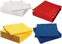 Салфетки столовые PAW 33x33см 3-сл. 20 штук цветные
