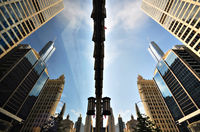 Картина напечатанная на холсте - Абстрактный город 0015 / Печать на холсте