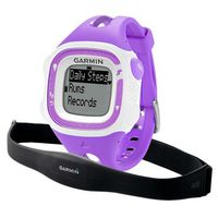 GARMIN Forerunner 15 Bundle - Small - Violet & White GPS Running Watch with Heart Rate, Tracks distance, pace, heart rate and calories, Activity tracking counts steps and calories