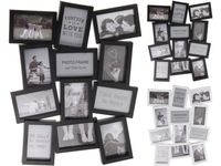 Rama foto colaj ( 12 foto 10X15cm), alba/neagra