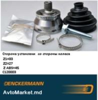 C120003 ШРУС наружний VW AUDI SCODA 1.9TDI 98- Z=27