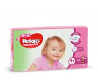 Huggies scutece Ultra Comfort 4+ pentru fetițe, 10-16kg, 68 buc.
