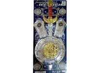 """Набор """"Щит и меч"""" 57cm (серебр, золотой)"""
