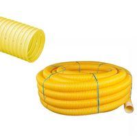 cumpără Teava corugata drenaj PVC dn160mm HAKAN +GF+  (galben)    (50m) în Chișinău