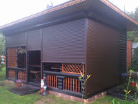 Rolete albe/maro pentru terasa