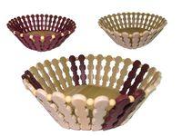 Хлебница деревянная двухцветная 22X9cm