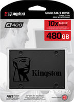 "2.5"" SSD 480GB  Kingston A400, SATAIII, Sequential Reads:500 MB/s, Sequential Writes:450 MB/s, 7mm, Controller 2 Channel, NAND TLC"
