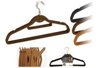 купить Набор вешалок костюмных 5шт, ворс/пластик в Кишинёве