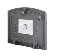 Дверца для духовки чугунная со стеклом и термометром Halmat