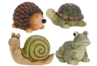 Еж/черепаха/лягушка/улитка декоративные, натуральные цв