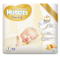 Huggies scutece Elite Soft 1, 5 kg, 84 buc.