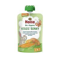 Piure de morcovi, cartofi și  mazăre Holle Bio Organic Veggie Bunny (6 luni+), 100g