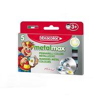Carioci Fibracolor Metal Max 5 culori