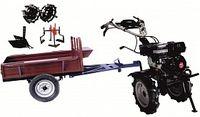 Набор мотоблок TECHNOWORKER HB 700RS ECO+ Прицеп RK500 + плуг регулируемый + металлические колеса 4*8 + мотыга