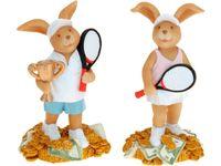 Сувенир Кролик -теннисист 16.5сm