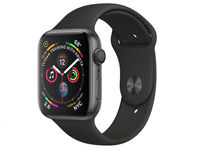 Умные часы Apple Watch 4 44mm, Space gray, Black Sport Band
