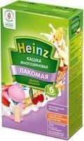 Heinz Лакомая каша многозерновая молочная яблоко, вишенка, 6 мес. 200г