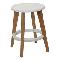 купить Пластиковый стул, деревянные ножки 335x455 мм, белый в Кишинёве