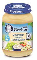 Gerber Пюре «Яблоко-виноград с творогом» (6m+) 190 гр.