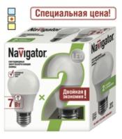 (BA) LED (7Wt) 2 в 1 NLL-A55-7-230-4K-E27/2PACK