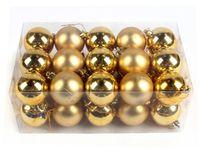 Set globuri pentru brad 30X50mm, in cutie