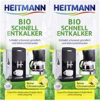 купить HEITMANN Экспресс Био очиститель накипи для кофеварок и электрочайников, 2 x 25г в Кишинёве