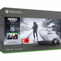 Microsoft Xbox One X 1TB Black 1 x Gamepad (Xbox One Controller) + Game METRO Exodus