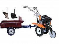 Set motocultivator TECHNOWORKER HB 700N + Remorca RK500 + plug simplu + plug reglabil