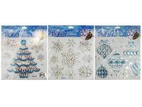 купить Наклейки новогодние на окна 27.5X22cm, бело-голубые в Кишинёве