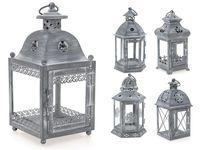 купить Подсвечник-фонарь подвесной металлический 11X11X23cm, серый в Кишинёве