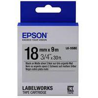C53S655013 Tape Epson LK5SBE Matte Blk/MattSiv 18/9