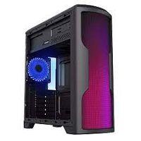 Корпус ATX GAMEMAX G562-RGB, без блока питания, 1x120 мм, синий светодиод, передняя панель 75 светодиодов RGB, USB3.0, черный