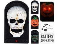 Звонок дверной со светом Halloween, 19X11X5cm, плас