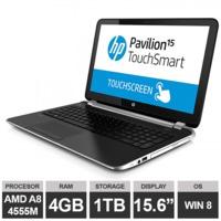 "Ноутбук HP Pavilion 15-n090sa (15.6"" AMD A8 4555M 4GB 1TB Radeon HDGraphics Win8)Silver"