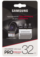 Samsung PRO Endurance .32GB MicroSD (Class 10). UHS-I (U3)+SD adapter,