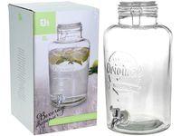cumpără Borcan din sticla cu capac 8l, D21cm, H37cm în Chișinău