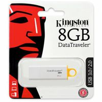 купить Kingston DataTraveler Generation 4 (G4) 8GB WhiteYellow, USB3.0 в Кишинёве