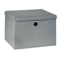 купить Бокс с крышкой для хранения 460x385x320 mm, серый в Кишинёве