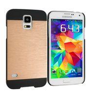 Husa de protectie INO Metal GO COOL pentru Galaxy S5, Golden-Black