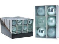 Набор шаров 6X80mm, бирюзовые, в коробке