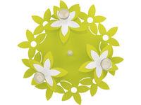 Светильник FLOWERS зел 3л сер-коричн кругл 6900