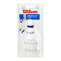 cumpără Fluturas badminton (set 3 buc.) WILSON DROPSHOT 3 CLAMSHEL WH WRT6048WH (3568) în Chișinău