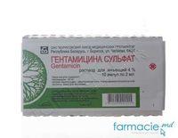 Gentamicina sol.inj. 4% 2ml N10 (Borisov)