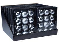 купить Набор шаров 12X57mm, 4матов, 8глянц, серебряных, в коробке в Кишинёве