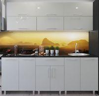 Кухонный гарнитур Bafimob Modern (High Gloss) 2.4m no glass Beige