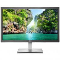"""23.6"""" AOC """"e2476Vwm6"""", Black/Silver (1920x1080, 1ms, 250cd, LED50M:1, D-Sub, HDMI/MHL) (23.6"""" TN W-LED 1920x1080 Full-HD, 0.272mm, 1ms GTG, 250 cd/m², DCR 50 Mln:1 (1000:1), 16.7M, 178°/160° @C/R>10, 30-83khz/50-76hz, VGA 1x, HDMI/MHL, Built-in PSU, Fixed Stand (Tilt -4/+22°), VESA Mount 100x100, i-Menu, Flicker Free, Anti-Blue Light, Black/Silver)"""