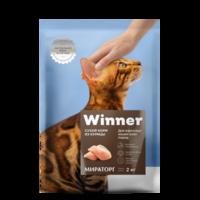 Мираторг Корм для взрослых кошек всех пород куриное мясо 2кг