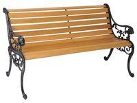 купить Скамья садовая деревянная 122X70cm с подлокотниками в Кишинёве