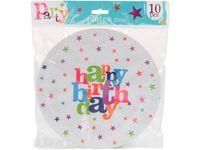 """купить Набор тарелок бумажных """"Happy Birthday"""" 10шт, D23cm в Кишинёве"""