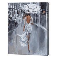 Plimbare sub ploaie, 40х50 cm, pictură pe numere Articol: GX27579